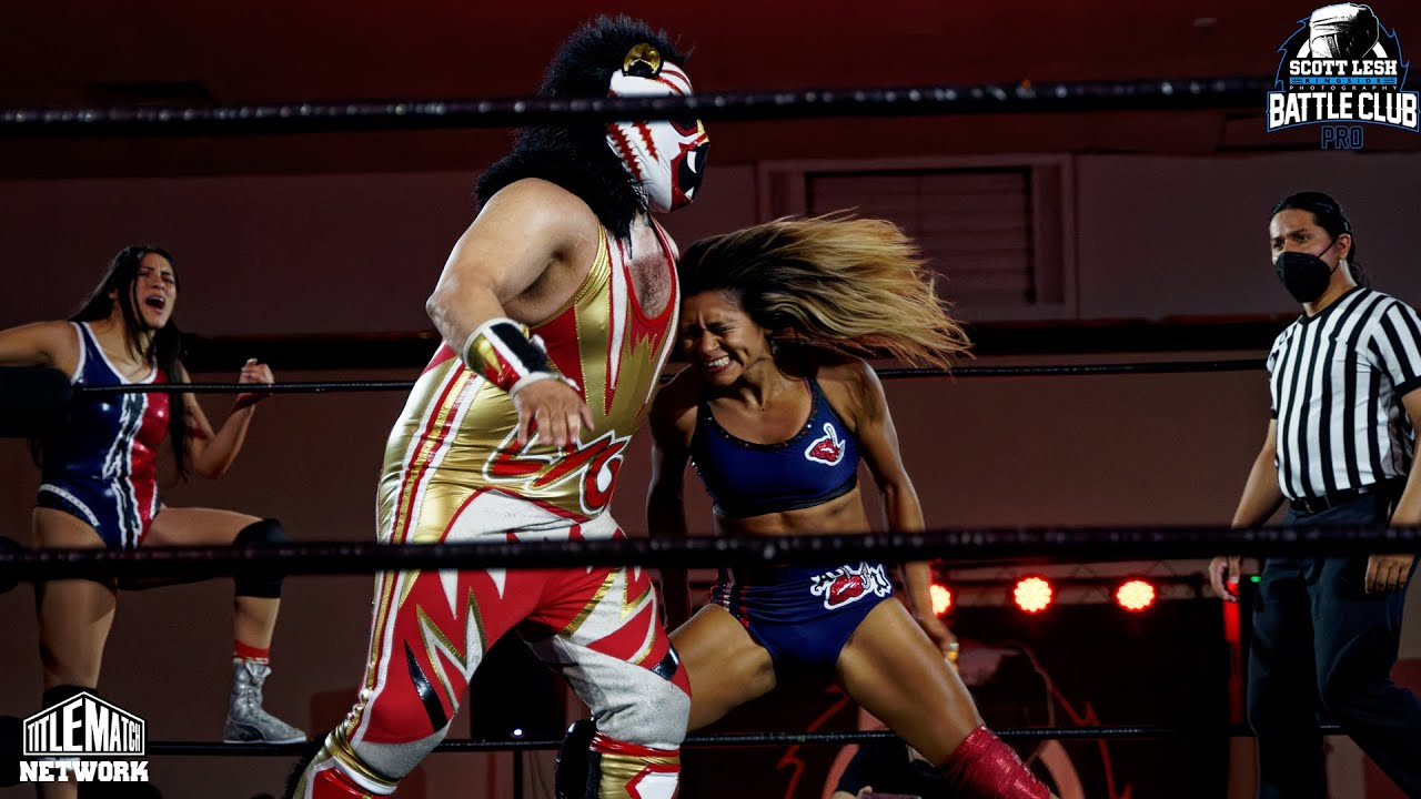 Ashley Vox & Delmi Exo vs Mane Event (Intergender Tag Match) Battle Club Pro