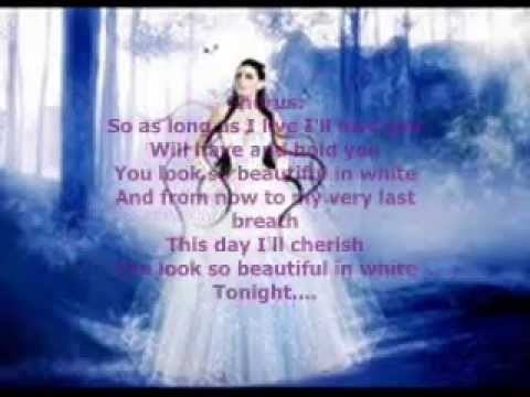 Shayne Ward - Beautiful In White Lyrics