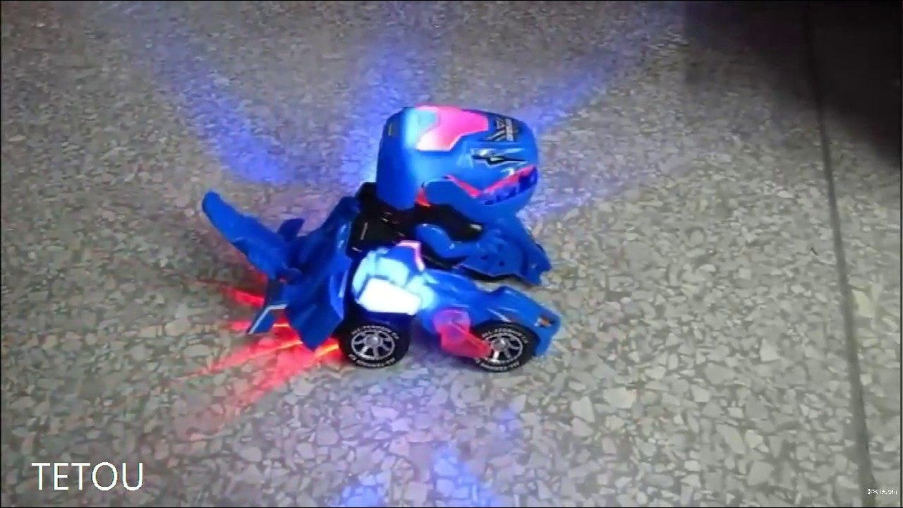 Transforming Dinosaur LED Car T-Rex Toys With Light Sound Electric Xmas Gift UK