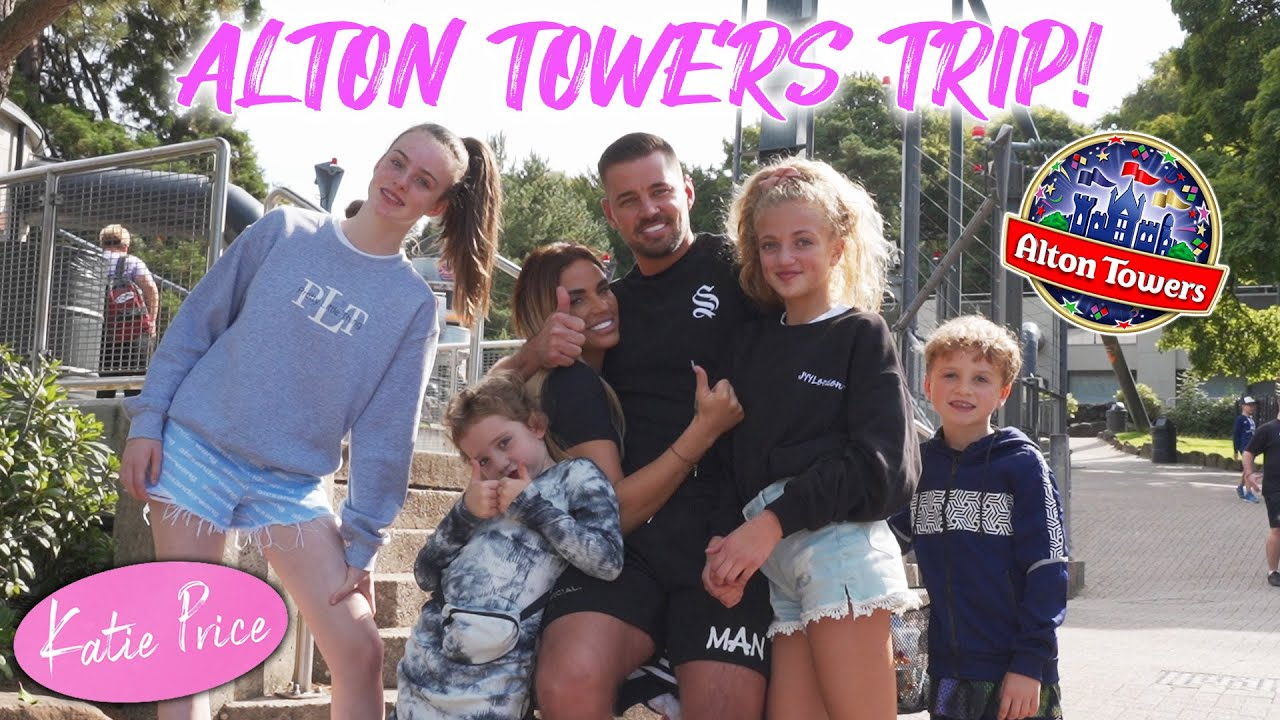KATIE PRICE: ALTON TOWERS WITH THE FAMILY! (FUNNY!)
