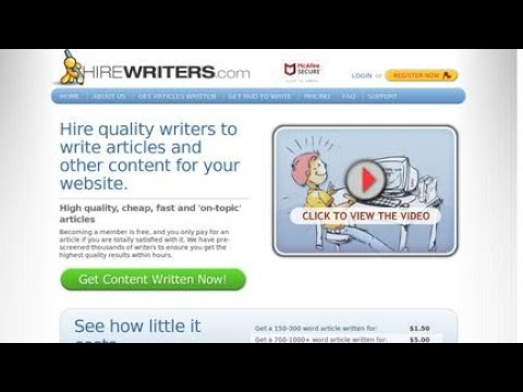 Hire Writers Review - Online Writing Jobs