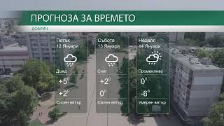 Прогноза за времето на 12-ти, 13-ти и 14-ти Януари 2018г.