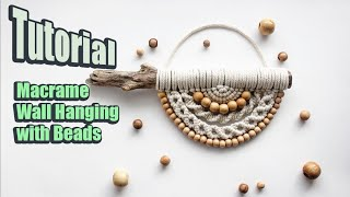 Tutorial Macrame Wall Hanging (with beads) | DIY |