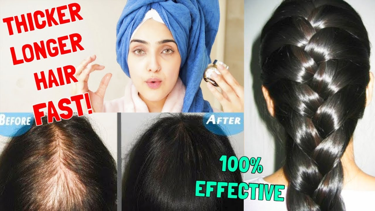 How To Get Longer Thicker Hair In One Week Natural Diy