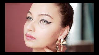DRAMATIC CAT EYE MAKE UP TUTORIAL | Tejaswi | MAYBELLINE GEL EYELINER|
