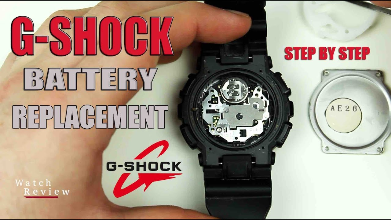 How To Change A G Shock Watch Battery Youtube