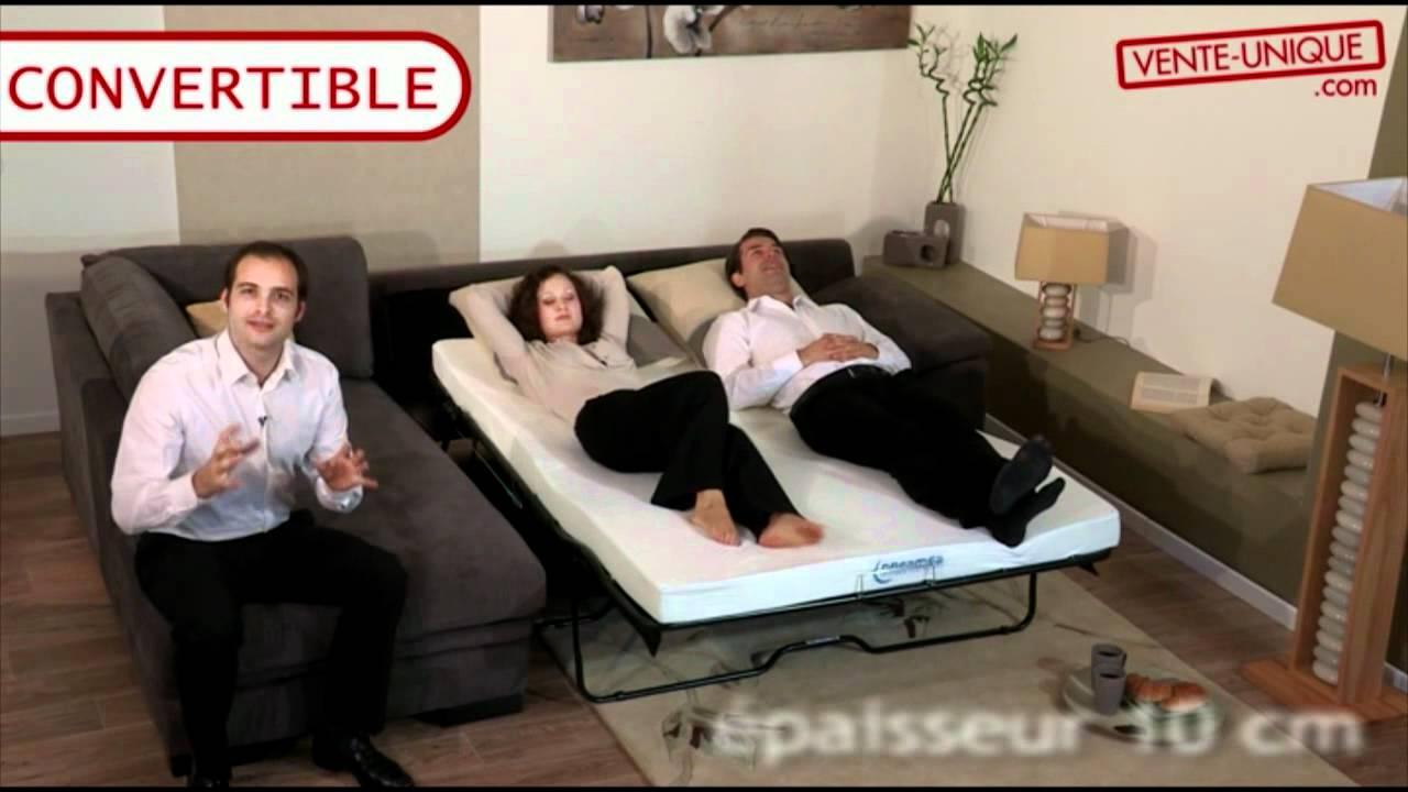 Salon d 39 angle convertible tissu lincoln ii vente youtube - Salon angle tissu ...