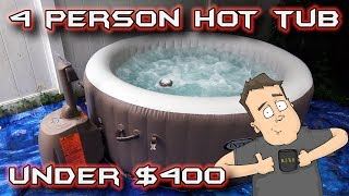 Cheap Portable 4 Person Hot Tub Under $400 Setup, Review & Much More