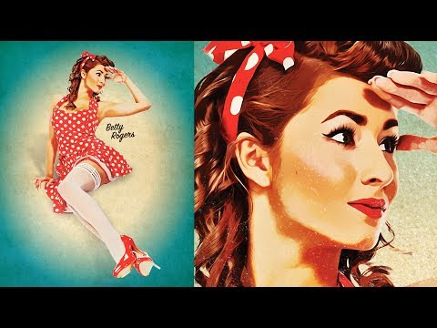 How To Create a Retro Pin-Up Poster in Photoshop