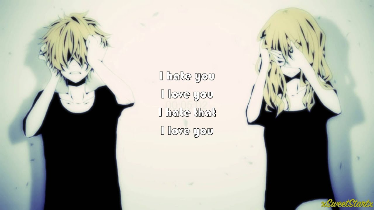 Hate Love Boy Wallpaper : Nightcore - I Hate You I Love You (With Lyrics) - YouTube