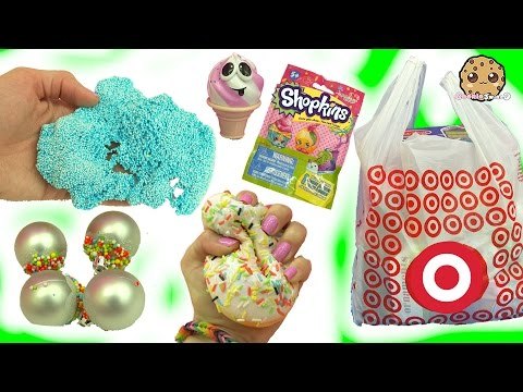 Squishy Cupcakes, Christmas Foam, Shopkins Blind Bags + More - Target Holiday Haul Video