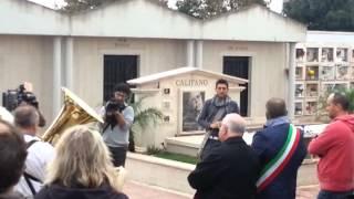 Benedizione tomba Franco Califano 1