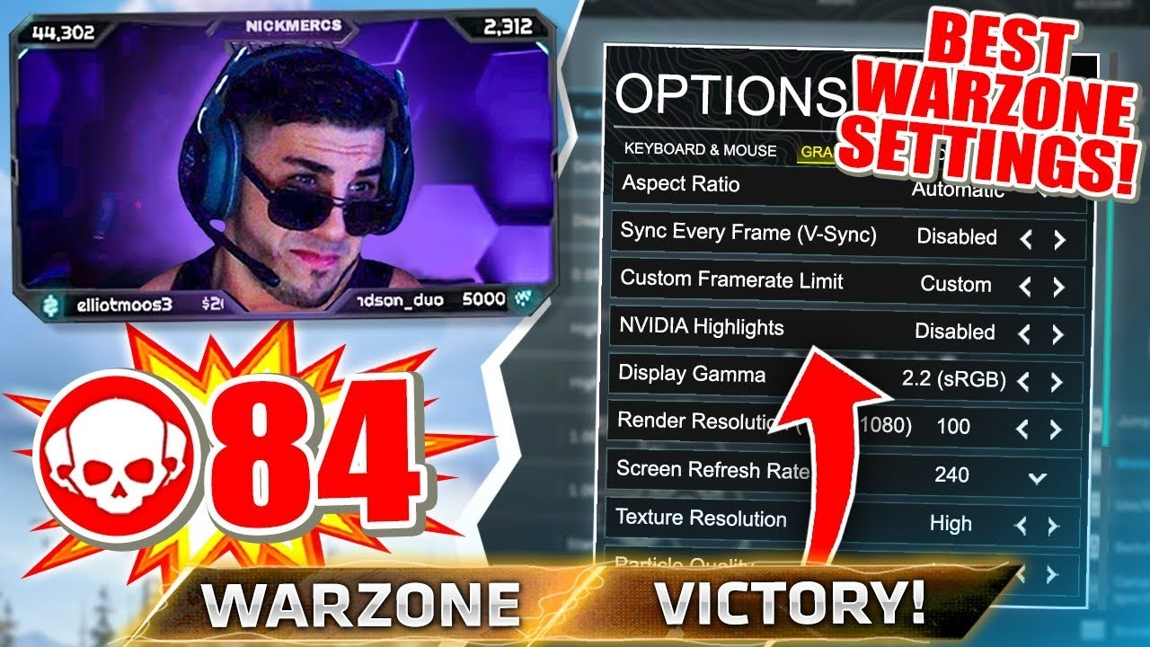 My Official Warzone Settings Youtube