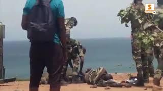 Urgent : Un véhicule militaire se renverse à Ouakam, un passager porté disparu