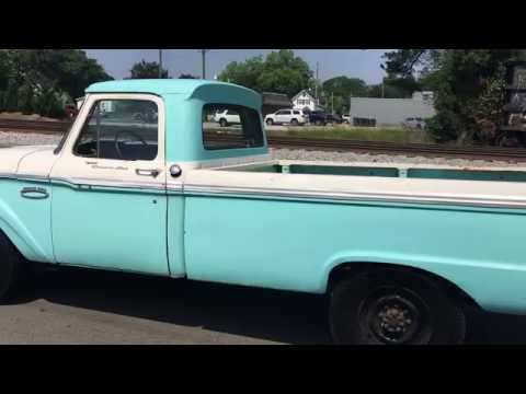 1965 ford f250 custom cab camper special for sale north carolina truck youtube. Black Bedroom Furniture Sets. Home Design Ideas