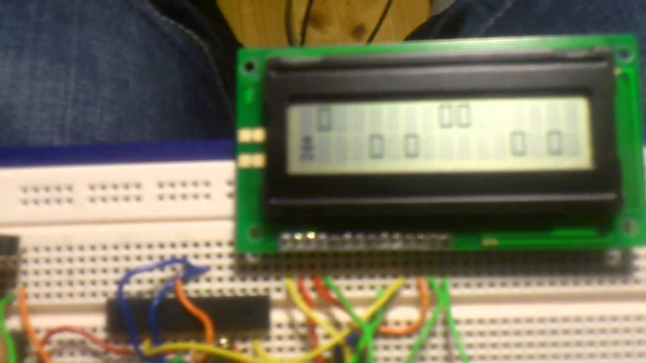 Arduino lcd game on standalone atmega p pu youtube