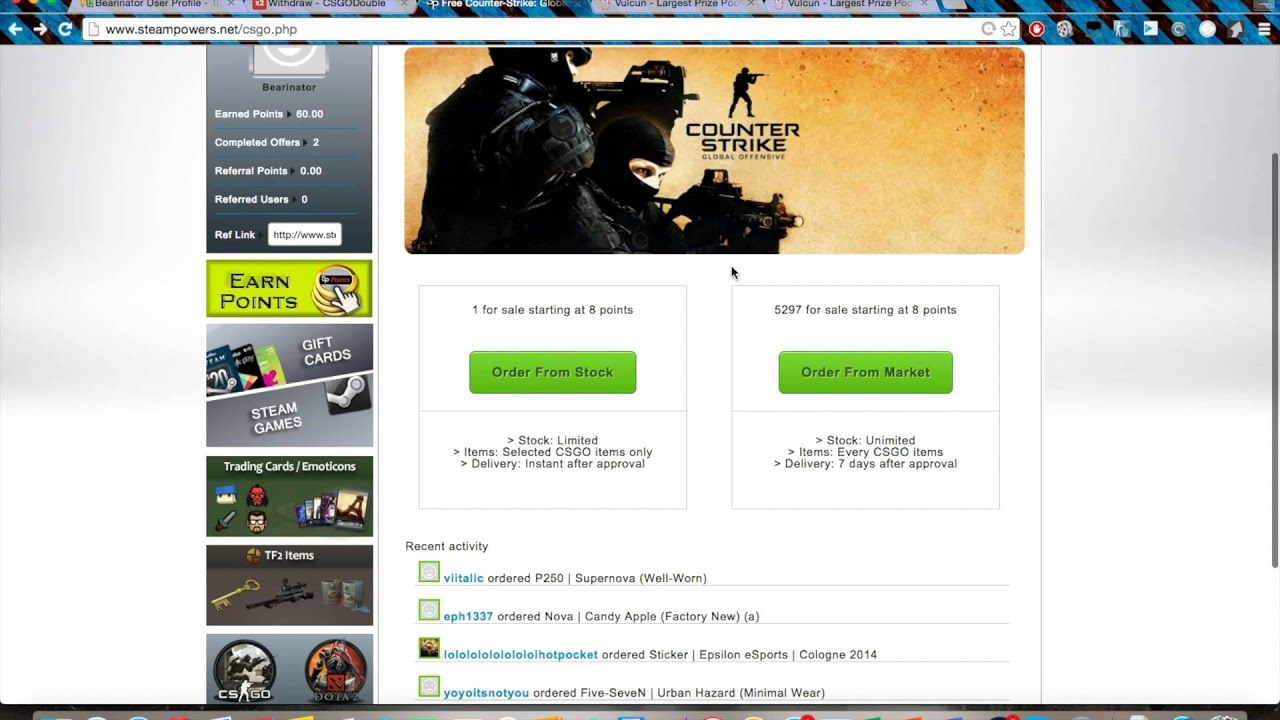 How To Get Free Steam Gift Cards, CS:GO Items and Other In-Game ...