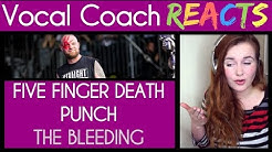 Vocal Coach reaction to Five Finger Death Punch - The Bleeding (Rock Am Ring 2017)