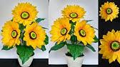 Cara Membuat Bunga Matahari Dari Kresek Bekas How To Make Sunflowers From Plastic Bag Youtube