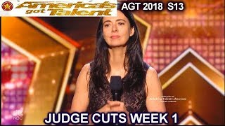 Carmen Lynch Stand Up Comedian Really FUNNY  America's Got Talent 2018 Judge Cuts 1 AGT