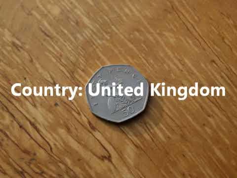 50 Pence Elizabeth II 3rd portrait 1997 United Kingdom
