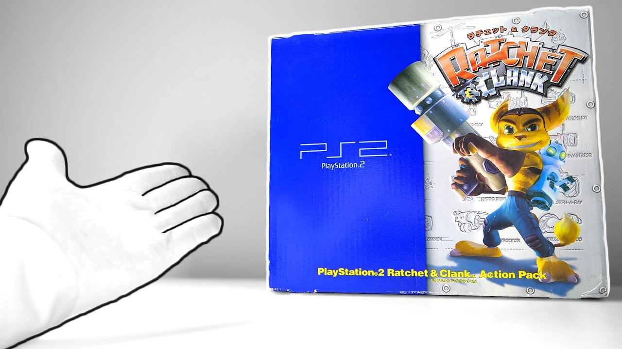 """PS2 """"Ratchet & Clank"""" Consoles Unboxing (Sony PlayStation 2) + PS5 Rift Apart Press Kit"""