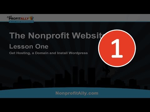 Make a WordPress Website: Lesson One - Get Hosting, a Domain and Install WordPress