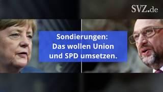 Union und SPD: Die Ergebnisse der Sondierungen im Überblick