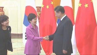 中韓が会談 日中韓首脳会談の開催を合意(15/09/03)