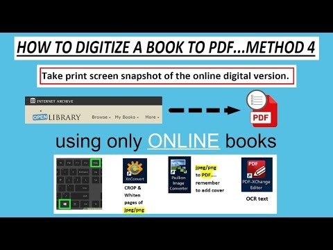 Digitize online book to pdf for offline use - Method 4 of How to digitize books.