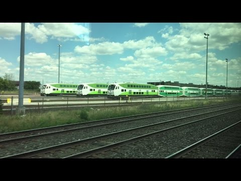 GO Transit HD 60 FPS: Riding Lakeshore West Line (Oakville to Toronto Union Station) 7/3/16