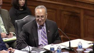 Sen. Schumer Judiciary Committee Statement on Constitutional Amendment