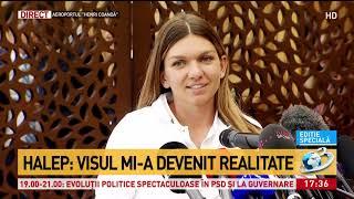 Simona Halep a adus trofeul istoric în România: Îmi doresc aur la Jocurile Olimpice - VIDEO