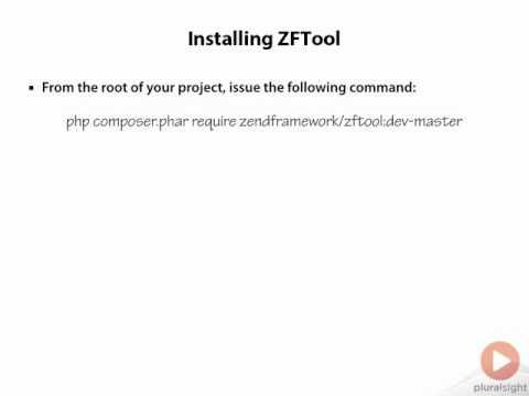 Zend Framework 2 -- 02 12 Installing ZFTool