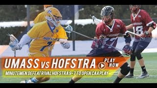 UMass vs. Hofstra | 2015 Lax.com College Lacrosse Highlight