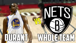 CAN KEVIN DURANT BEAT THE WORST NBA TEAM BY HIMSELF? NBA 2K17!