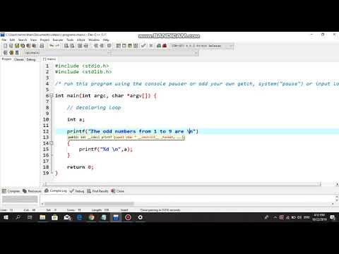 For Loop : Odd Numbers - C Programming Tutorial thumbnail