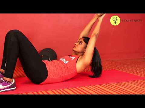 How To Do Crunch With Hands Overhead (Flat Abs) - Stylecraze Fitness