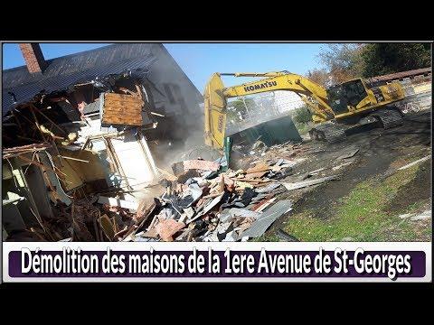 Démolition maisons de la 1 er Avenue de St Georges(Hier@Aujourd`hui)