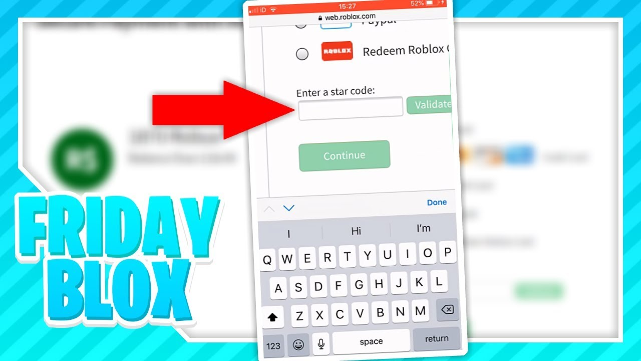 Tutorial How To Use A Star Code On Your Phone Roblox Youtube