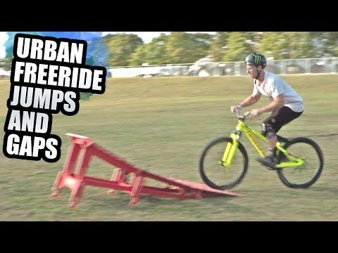 URBAN FREERIDE JUMPS AND GAPS - THE MTB KICKER RAMP