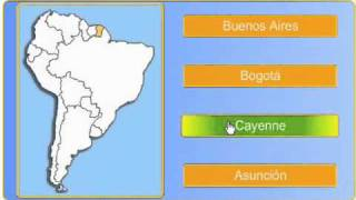 South American Capitals (with Maps) quizzes