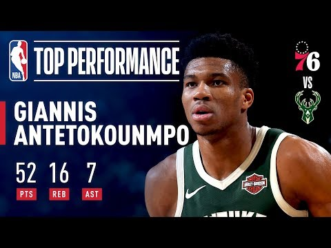 Giannis Antetokounmpo Records A CAREER-HIGH 52 points | March 17, 2019 thumbnail