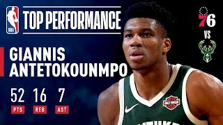 Giannis Antetokounmpo Records A CAREER-HIGH 52 points | March 17, 2019