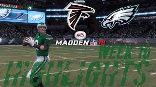 Falcons vs Eagles |Week 10 Highlights Madden NFL 18