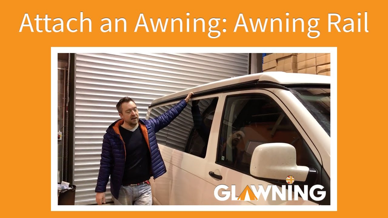 Fitting a campervan awning using an awning rail
