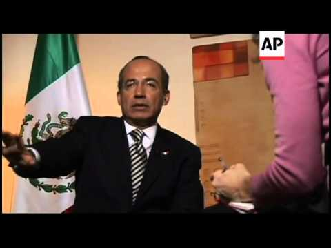 AP interview with Mexican President Felipe Calderon