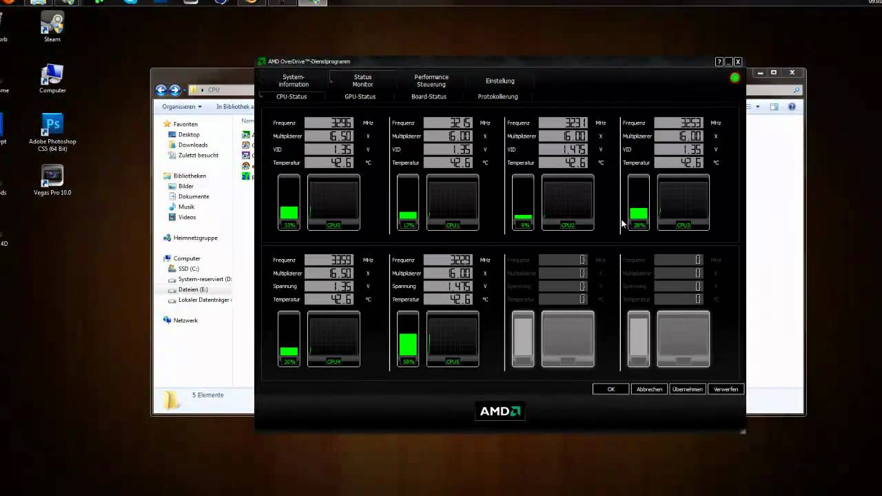 AMD Overdrive Tutorial [German] [HD]