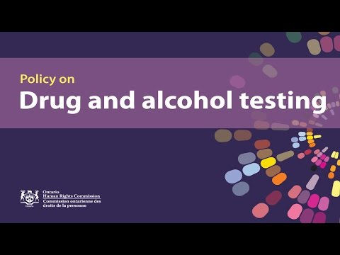 OHRC and HRPA webinar on drug and alcohol testing and human rights