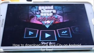 How To Download GTA Vice City on Android for FREE!!!